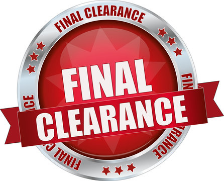 modern red final clearance vector sign