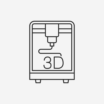 3D printing line icon