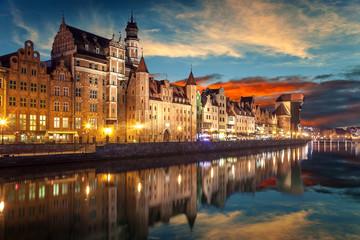 Obraz Gdańsk o zachodzie słońca - fototapety do salonu