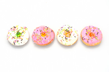 Fresh homemade colorful donuts(mini size)
