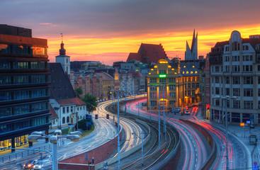 Obraz Widok miejski Wrocławia - fototapety do salonu