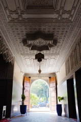 Grand entrance hall in Marrakesh Morocco