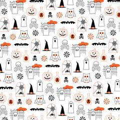 halloween pumpkins and owls