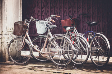Photo sur Aluminium Bicycles in vintage style