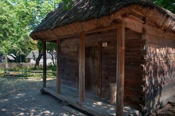 Old wooden storage building from Ukraine.