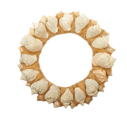 Wreath of sea shells