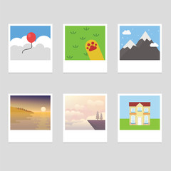 Photo stack collection with different picture and landscape
