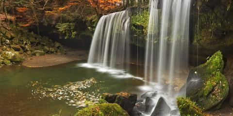 Nabegataki Falls in Japan in autumn