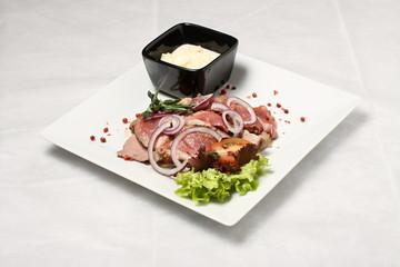 Meat and horse-radish
