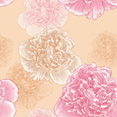 pattern of the peonies