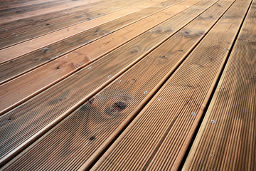 Constructing a wooden patio