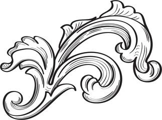 Acanthus scroll leaf