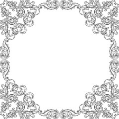 Victorian luxury art frame