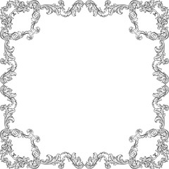 Victorian luxury baroque frame