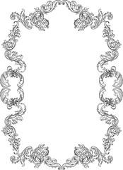 Vintage baroque real frame