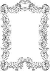 Vintage baroque retro frame