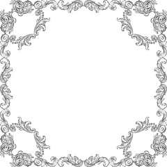 Vintage luxury baroque frame