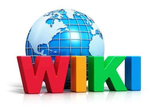 Wiki text and Earth globe