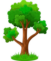 Green tree cartoon