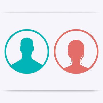 Avatars icons, signs, vector illustration