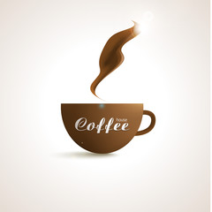 Coffee shop trendy background with coffee cup design for your
