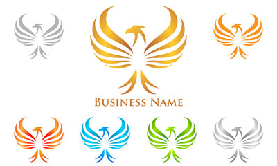 eagle, hawk, phoenix, vector, logo, design,