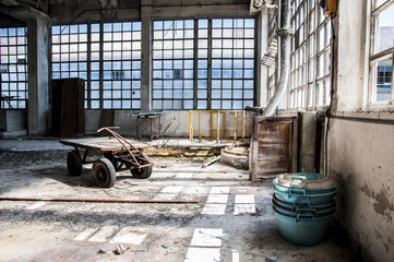 Abandoned ceramics factory.