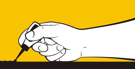Hand gluing