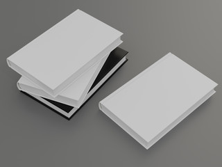 Mockup of the book with a white cover on a gray background