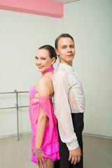 Dancing, ballroom dancing, dance studio, man and woman