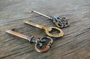 Old vintage keys
