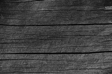 Wooden Plank Board Grey Black Wood Tar Paint Texture Detail Old Aged Dark Cracked Timber Rustic Macro Closeup Horizontal Pattern Blank Empty Rough Textured Copy Space Weathered Painted Background