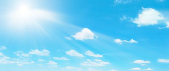 Template di un cielo con sole e nuvole