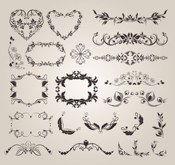 Vector set decorative elements for design