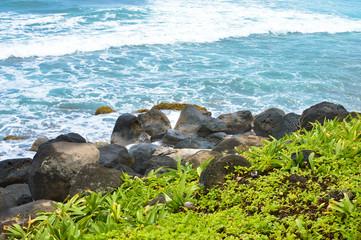Beautiful tropical coast of the Caribbean sea by the Great Corn Island, Nicaragua