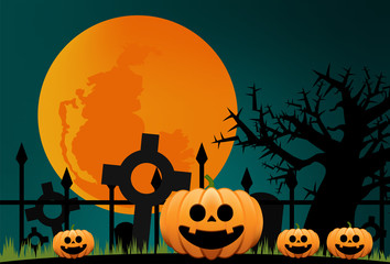 Halloween night at the graveyard