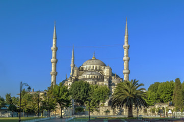 view of Sultan Ahmed Mosque, Istanbul