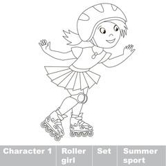 Summer outdoor games for children.
