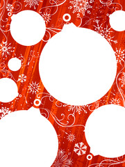 Red Christmas background with white places for your text.
