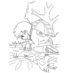 the coloring with a set of images of children in kindergarten who are passionate about their favorite thing or hobby