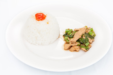 "Thai food, ""KAPAO MOO"" (Thai cuisine)"