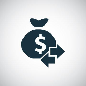 money bag arrow icon
