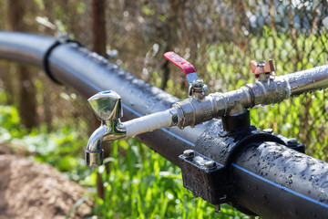 Faucet at garden