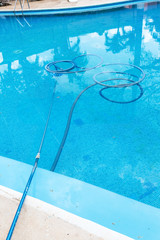 Process of cleaning swimming pool