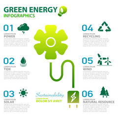 green energy ecology power and sustainability concept infographi