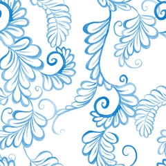 watercolor floral seamless ornament