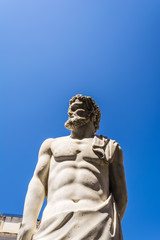 Marble statue in Piazza Pretoria, Square of Shame in Palermo, Sicily