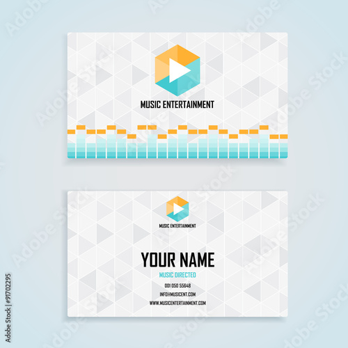 Music entertainment name card template business name card design music entertainment name card template business name card design set wajeb Image collections