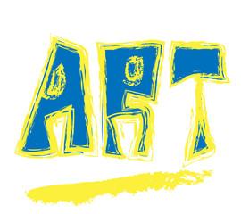 doodle pop art word grunge letter