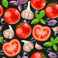 Tomato and garlic seamless